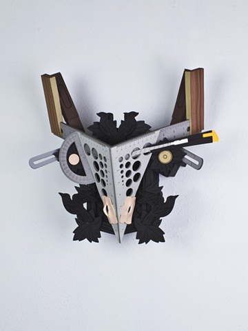 Golem #26; cuckoo clock with tools