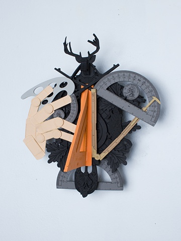 Golem #7; cuckoo clock with tools
