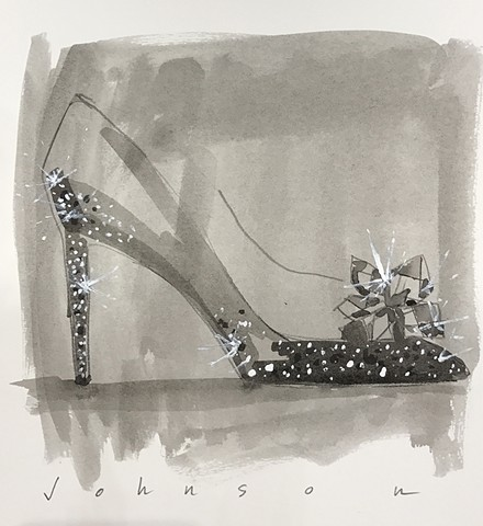 Live Fashion Illustration - Jimmy Choo, Dubai