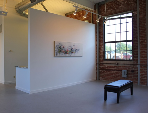Installation view of Collider at the Orison Project July/August 2012.