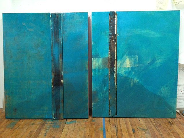 Pretend Is Water, Real Is This (diptych)
