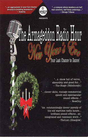 "Poster for ""Armageddon Radio Hour New Years Eve"" 2005."