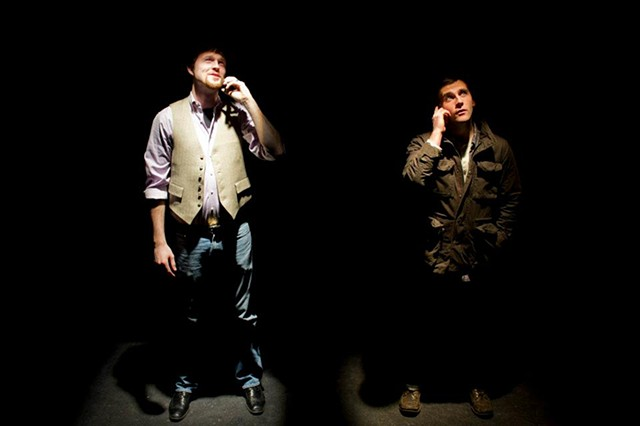 Adam Overberg and Mickey O'Sullivan in the production at Cold Basement Dramatics.