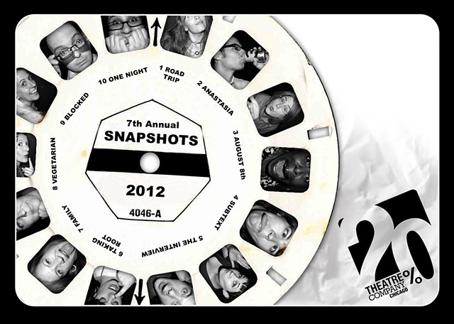 "Banner for ""Snapshots"" 2012."