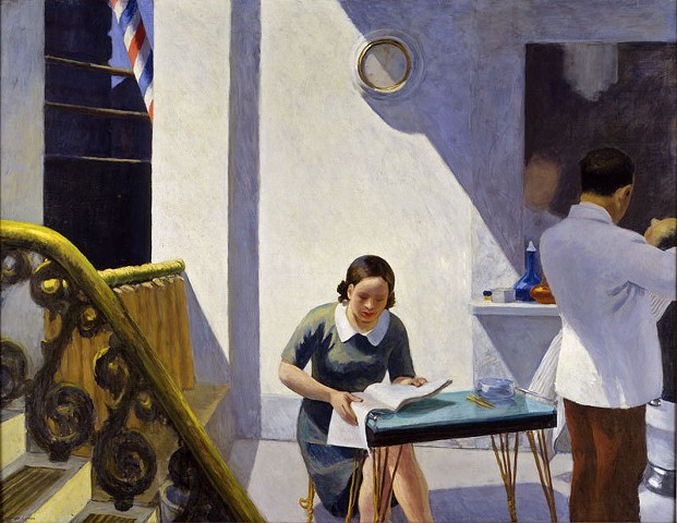 """The Barber Shop"" by Edward Hopper, 1931."