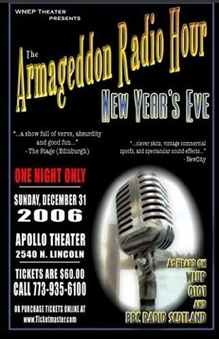 "Poster for ""Armageddon Radio Hour New Years Eve"" 2006."