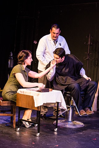 Concetta Rose Rella, Jacques Mitchell, and Robert Funaro in the production at Nylon Fusion. Photo by Al Foote III Theatrical Photography.