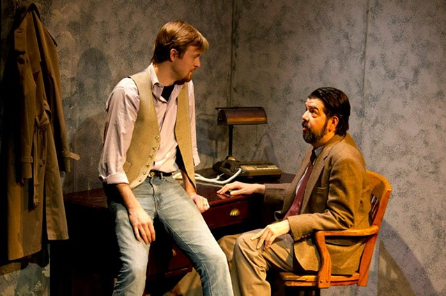 Adam Overberg and Donaldson in the production at Cold Basement Dramatics.
