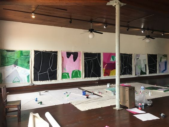 June 2017---studio residency at 100W Corsicana