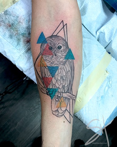 Owl and triangles