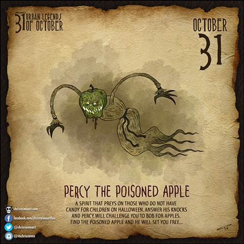 Day 31: Percy the Poison Apple