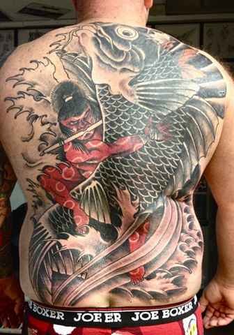 In progress back piece/cover up.