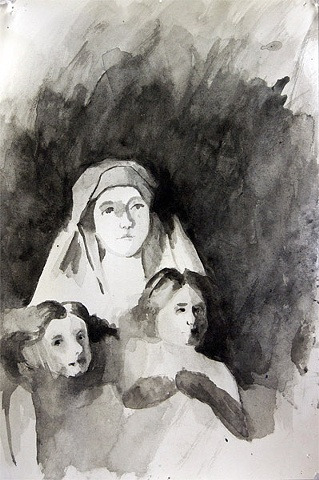 Madonna with Christ and John the Baptist sketch