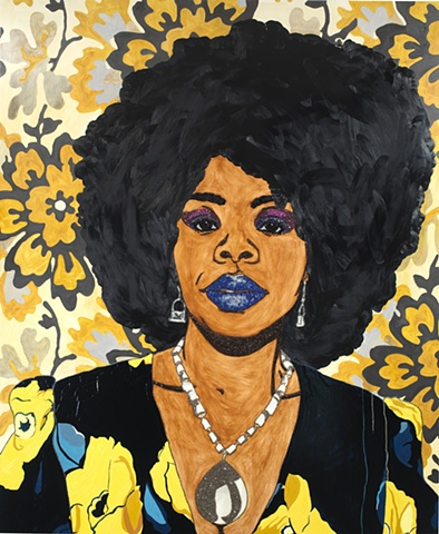 Mickalene Thomas Untitled - Portrait of Din