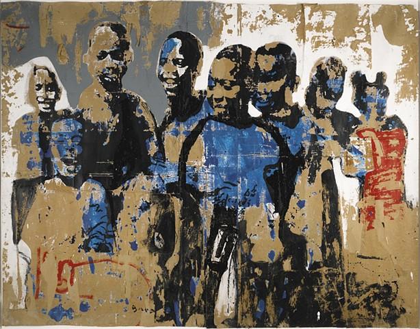 Armand Boua FOULE D'ENFANTS