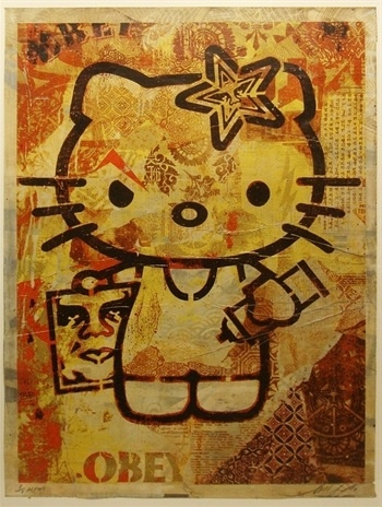 Shepard Fairey Hello Kitty 1/1 HPM