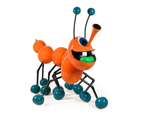 Kenny Scharf Orange Bingle Berry Ball Bug