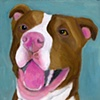 Bella Original Pit Bull Painting Dog Art