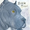 Gentle Giant Blue Pit Bull Terrier Dog Original Painting