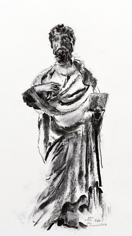 Statue from Orsanmichele, Florence, Italy