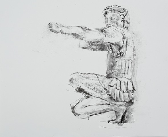Herakles, from the pediment of the Temple of Apahaia, Aegina, Greece