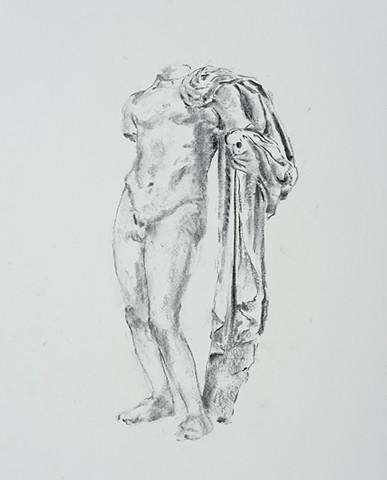 Asklepios, figure from the Agora, Athens, Greece