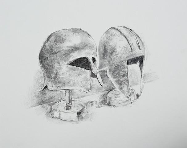 Classic Greek Helmets, Banake Museum, Athens, Greece