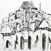 Chartres Cathedral, charcoal, 2010