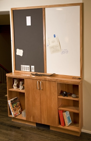 Chalk board and phone cabinet