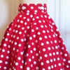 Red and White Betty skirt