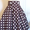 Brown and White Betty skirt