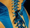 Blue and Yellow Corset