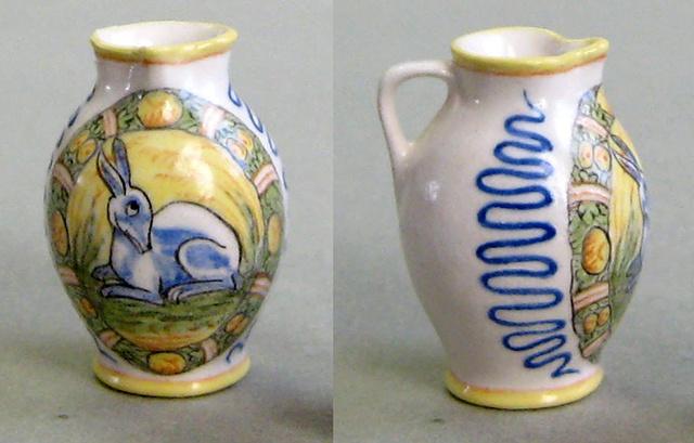 miniature of  Italian pottery jug by LeeAnn Chellis Wessel