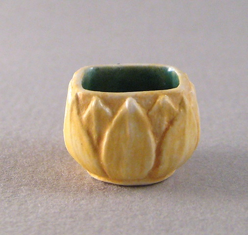 miniature reproduction of Arts and Crafts Grueby vase by LeeAnn Chellis Wessel