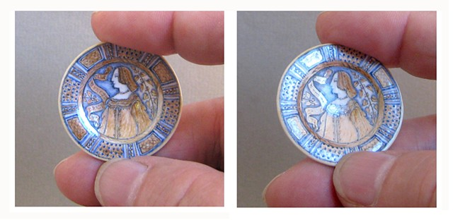 handmade ceramic miniature replica of Italian Renaissance pottery