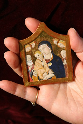 1/12 scale miniature egg tempera reproduction  Sano di Pietro painting by LeeAnn Chellis Wessel