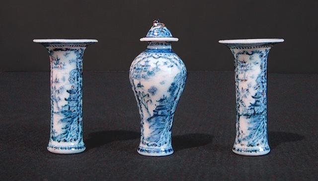 Three Piece Chinese Garniture