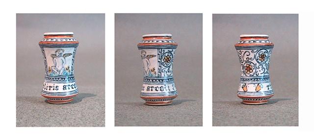 miniature Italian drug jar by LeeAnn Chellis Wessel