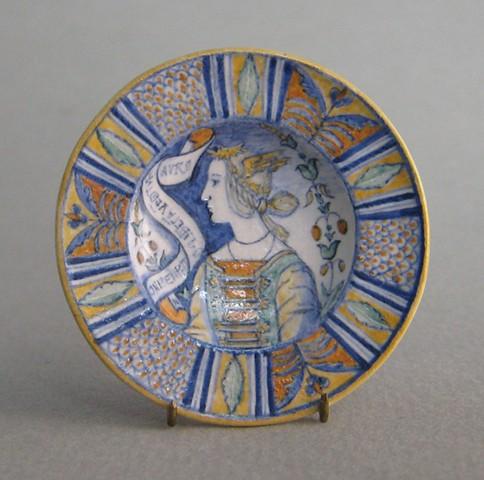 handmade miniature ceramic plate