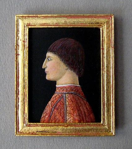 miniature egg tempera painting Piero della Francesca reproduction by LeeAnn Chellis Wessel