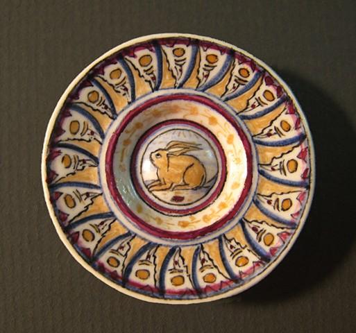 miniature ceramic replica of Italian Renaissance plate