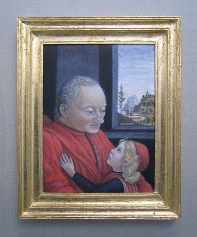 miniature egg tempera painting after Ghirlandaio