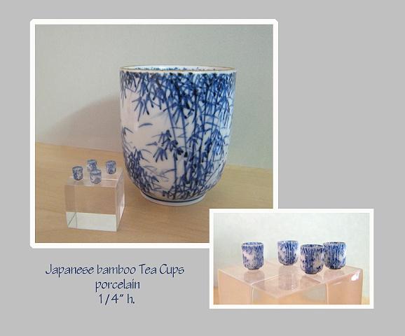 miniature porcelain tea cups