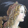 """Young Woman in Mythological Guise""  after Botticelli  1480-85"