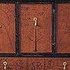 New Hampshire Press Cupboard with Early English Slipware