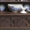 Jacobean Dresser with English Blue and White Delftware