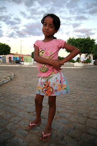 Girl in the Praça, Piabas, Bahia; 2009