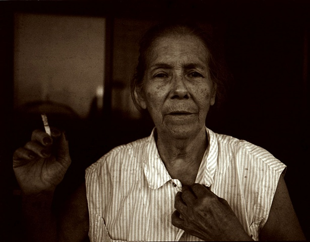 Vovó and her cigarette, Barra da Tijuca, 2010