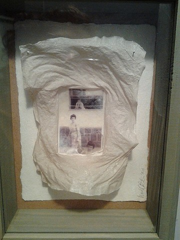 Family Fragments, No. 3 (detail) Transparency and handmade paper (abaca)