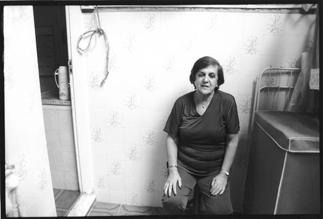 Tia Vera on her patio, Tijuca, Rio de Janeiro; 2003